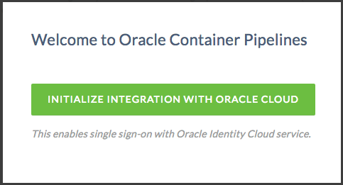 Creating an Account and Signing On to Oracle Container
